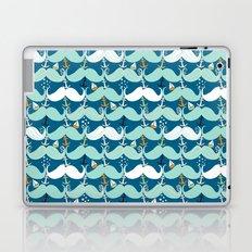 Mustache Waves Laptop & iPad Skin