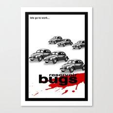 Reservoir bugs Canvas Print