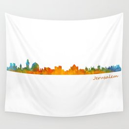 Jerusalem City Skyline Hq v1 Wall Tapestry