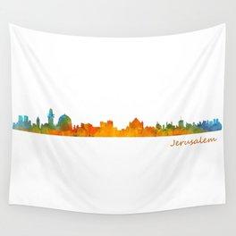 Jerusalem City Skyline Hq v1 Wall Tapestry
