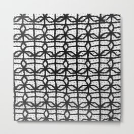 Vintage Window Grille Cross Stitch Pattern #8 Metal Print