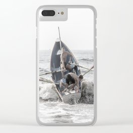 Get In The Boat! Clear iPhone Case