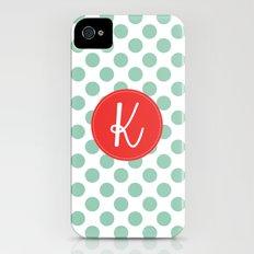 Monogram Initial K Polka Dot Slim Case iPhone (4, 4s)