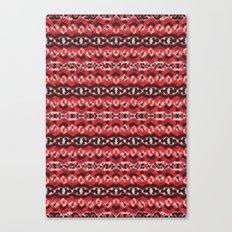 Montana Stripe - Cherry Canvas Print
