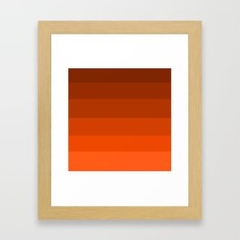 Pumpkin Spice in the Fall - Color Therapy Framed Art Print