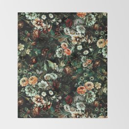 Night Garden VI Throw Blanket