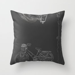 Under the Lamp Throw Pillow