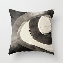 Metal Spiral Staircase London Throw Pillow