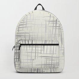 Crosshatch Silver Backpack