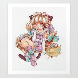Cute Witch Art Print