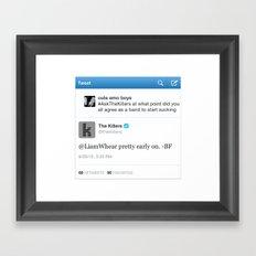 Sassy Tweet Tee Framed Art Print