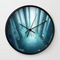 jenny liz rome Wall Clocks featuring Liz by Ramona Treffers