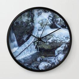 Ice and Water, No. 4 Wall Clock