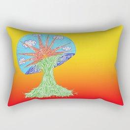 Sunrise Mushroom Rectangular Pillow