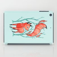 fox iPad Cases featuring Winter Fox by Freeminds
