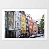 copenhagen Art Prints featuring Copenhagen by Anya Kubilus