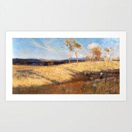 12,000pixel-500dpi - Arthur Streeton - Golden Summer, Eaglemont - Digital Remastered Edition Art Print