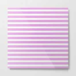 Pastel Pink Stripes Metal Print