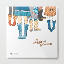 Inanimate Collective: Galoshes Metal Print