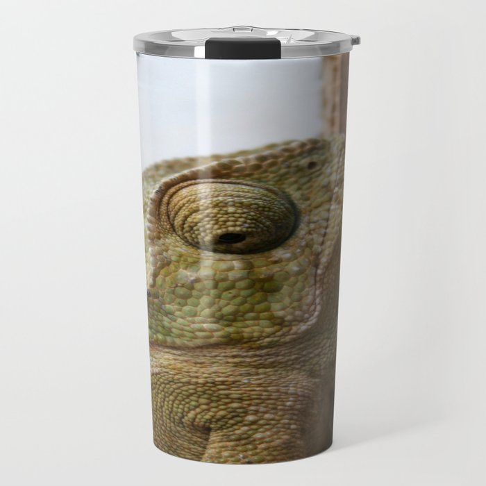 Close Up Of A Wild Green Chameleon Travel Mug