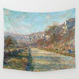 1880-Claude Monet-Road of La Roche-Guyon-60 x 73 Wall Tapestry