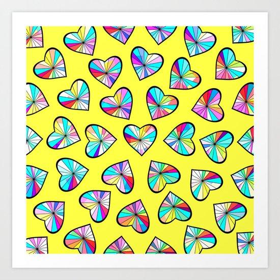 Hearts of glass II Art Print