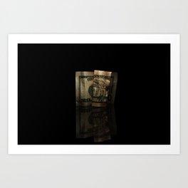 reflected folds Art Print