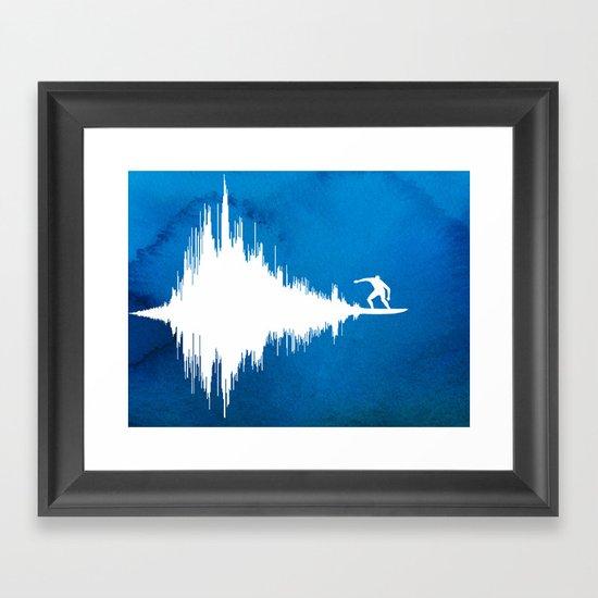 Soundwave Framed Art Print