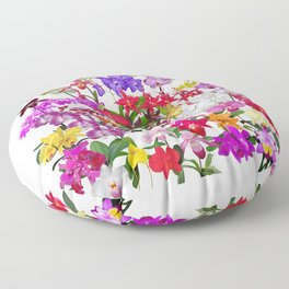 A celebration of orchids Floor Pillow