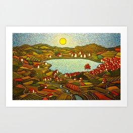 The Internal Landscape/ GC Myers Art Print