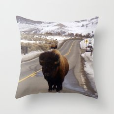 Montana Traffic Jam Throw Pillow