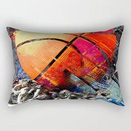Basketball art print 122 - basketball artwork for bedroom -basketball poster Rectangular Pillow