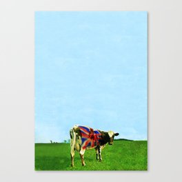 Atom Cow Canvas Print