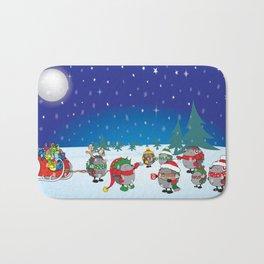 Hedgehog's Christmas magic Bath Mat