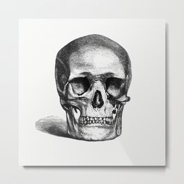 Vintage European style skull engraving from Annals of Winchcombe and Sudeley by (1877) Metal Print