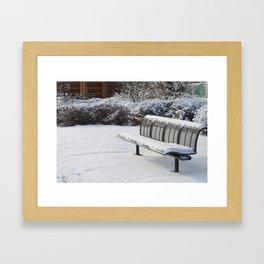 Lovely Snowfall Framed Art Print