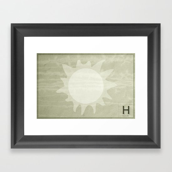 Hydrogen Framed Art Print
