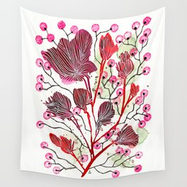Ruffled Blooms Wall Tapestry