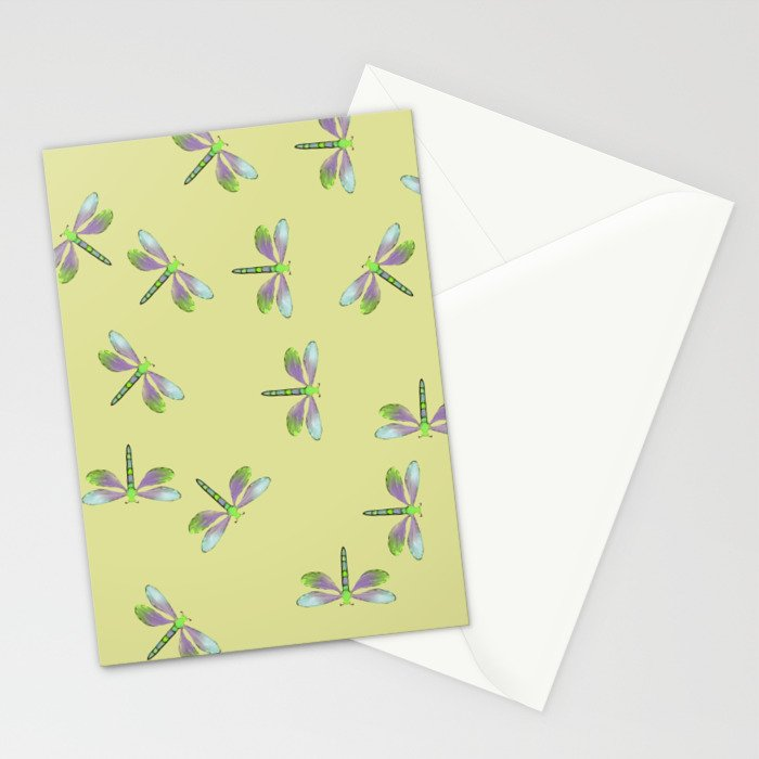 Dragonfly Frenzy Stationery Cards