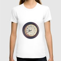 wall clock T-shirts featuring Old wall clock by Elisabeth Coelfen