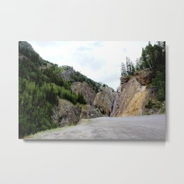 Drive Around the Curve onto a Shelf Above the Spectacular, but Frightening, Uncompahgre Gorge Metal Print