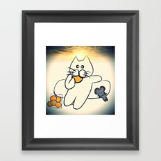 cat-877 Framed Art Print