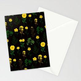 Yellow daisy pattern Stationery Cards