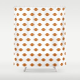 Texas longhorns orange and white university college texan football pattern Shower Curtain