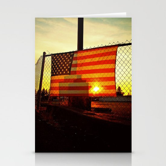 America's sunset Stationery Cards