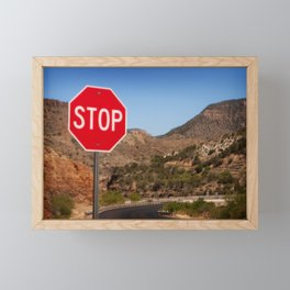 Stop! Framed Mini Art Print