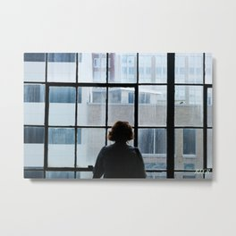 Window to Tulsa's Heart Metal Print