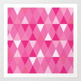 Harlequin Print Pinks Art Print