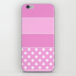 Combined pink pattern iPhone Skin