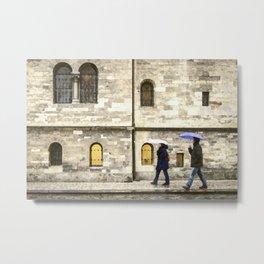 By the windows Metal Print